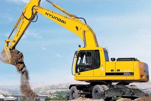 Цена на аренду Экскаватора колесного HYUNDAI R200-7С